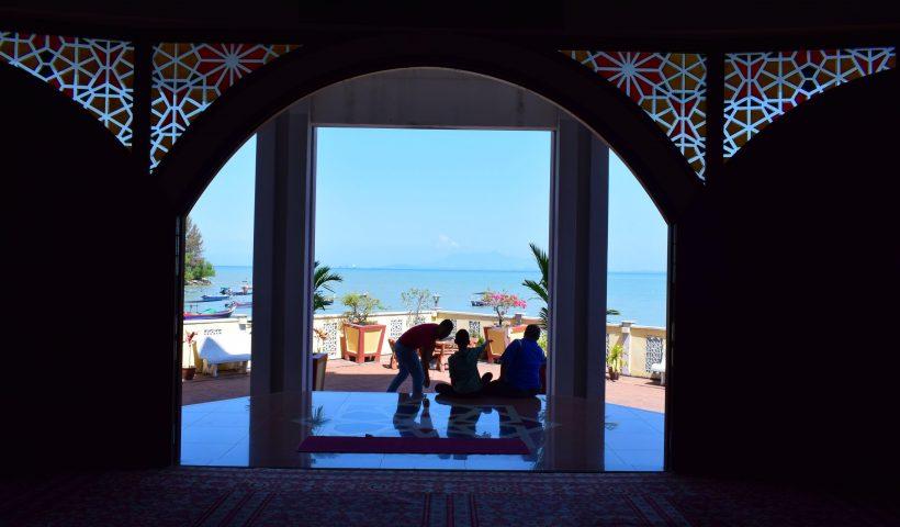 ペナン島の水上モスク